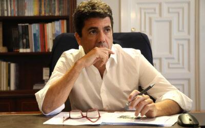 Carta de Mazón a Puig para que se sume a la defensa del trasvase Tajo-Segura