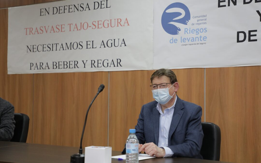 Mazón pide a Puig que reclame en Madrid «el agua que nos quieren recortar»
