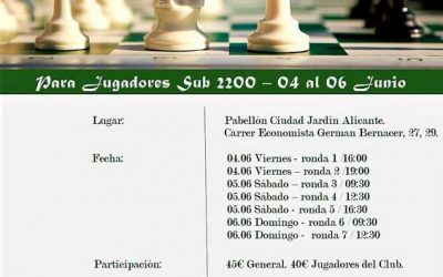Alicante apuesta por el ajedrez de alto nivel