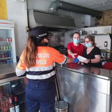 Última reparto gratuito de mascarillas en El Campello