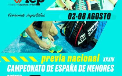 La cantera del Pádel nacional compite en Alicante del 2 al 8 de agosto