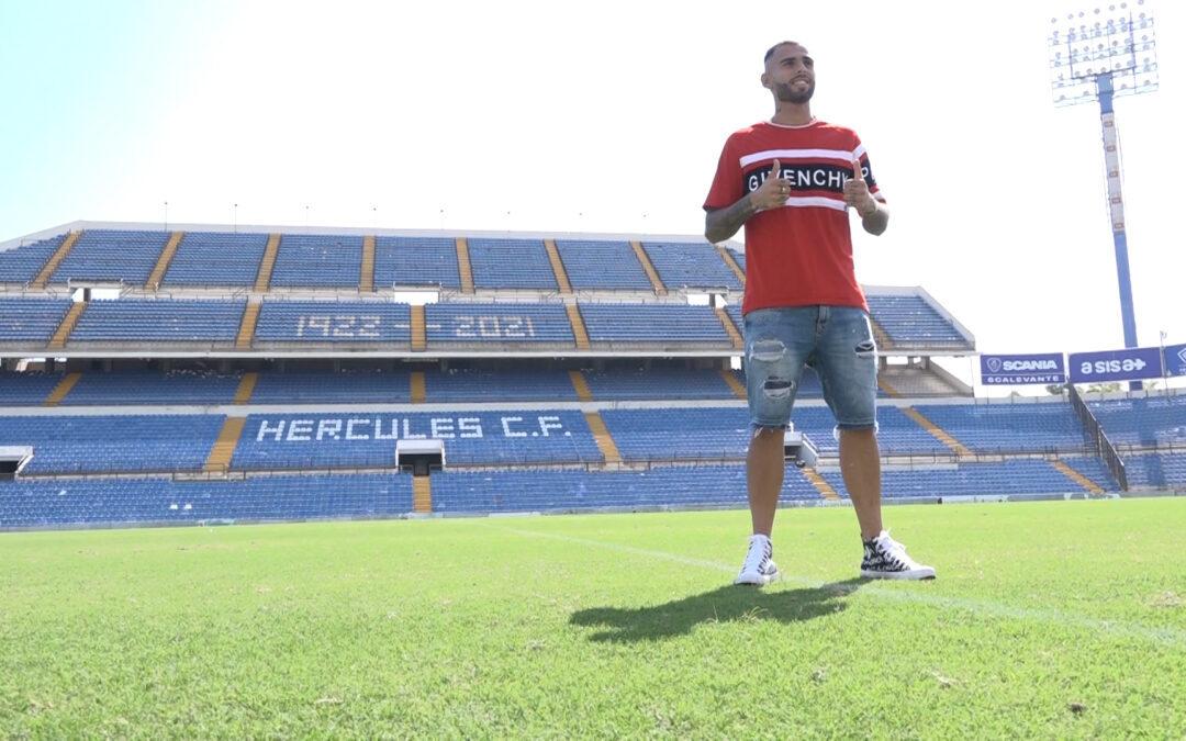 Elliot Gómez promete desborde en su presentación como jugador del Hércules