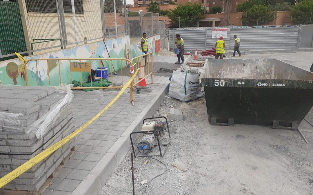 Infraestructuras  mejora los accesos de la Escuela Infantil Rayuela