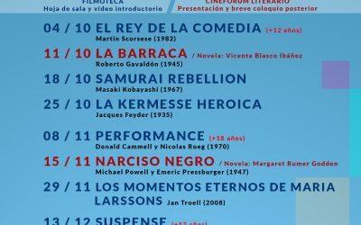 Vuelven a Sant Joan d'Alacant este octubre la filmoteca y el cinefórum literario