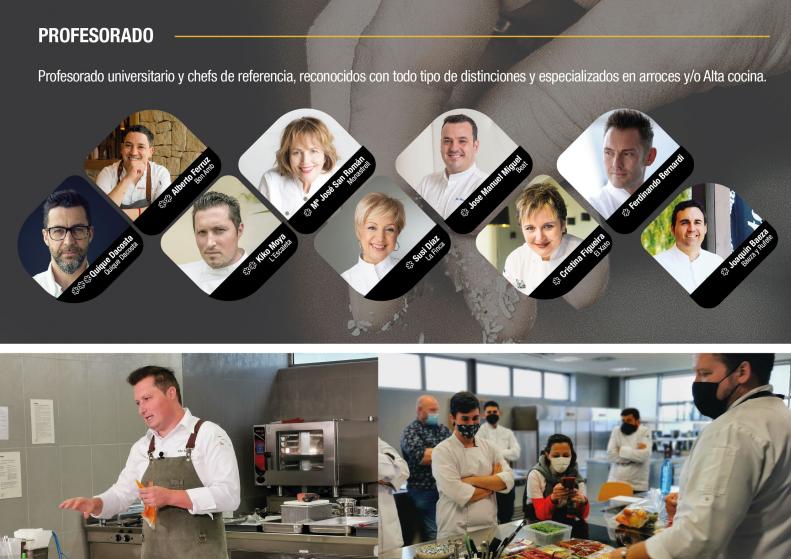 Alicante oferta dos becas de 2.000€ para estudiar el Máster de Arroces y Alta Cocina