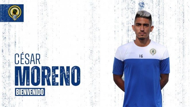 El pivote César Moreno completa el centro del campo del Hércules esta temporada