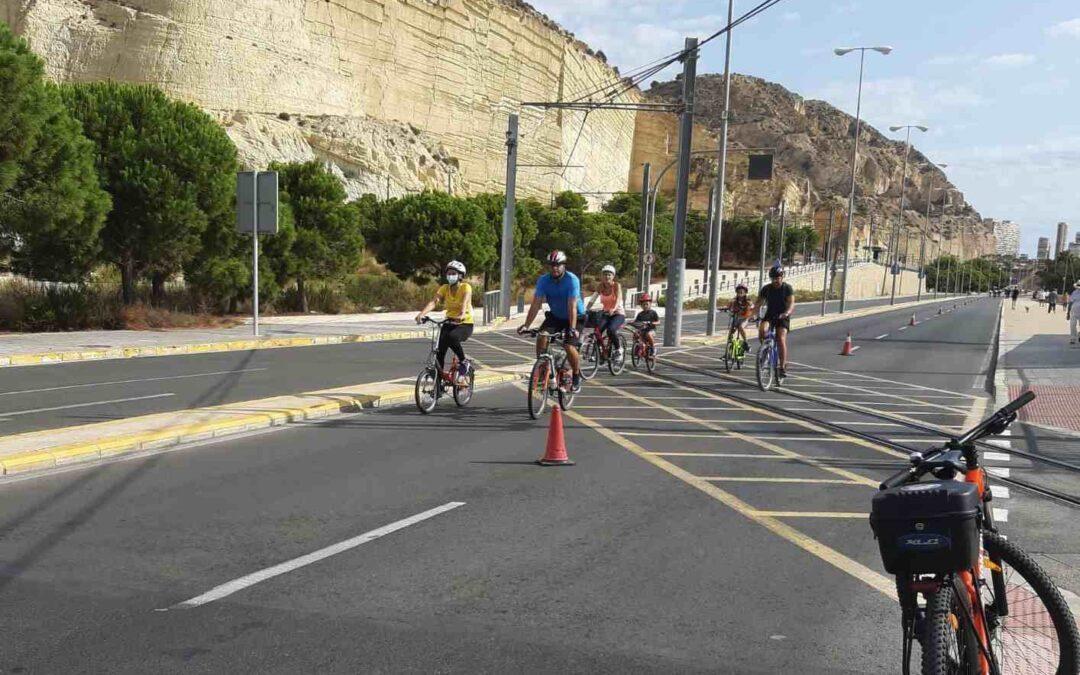La Cantera y el centro de Alicante seguirán peatonalizados los domingos y festivos