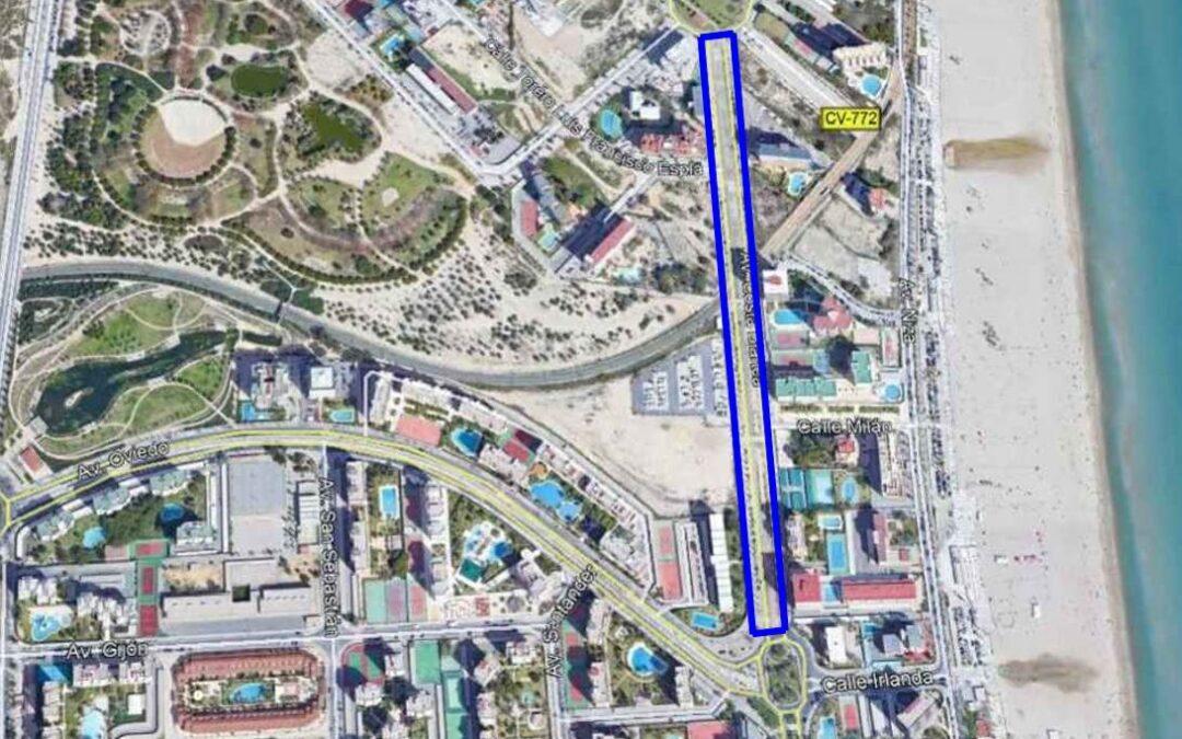 Medio Ambiente invertirá 100.000 euros en la mediana de la avenida Costa Blanca