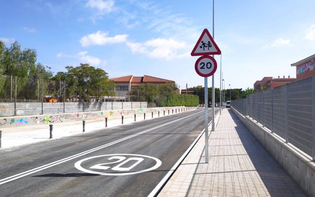 Acaban los trabajos de mejora en la avenida del Instituto de Sant Joan