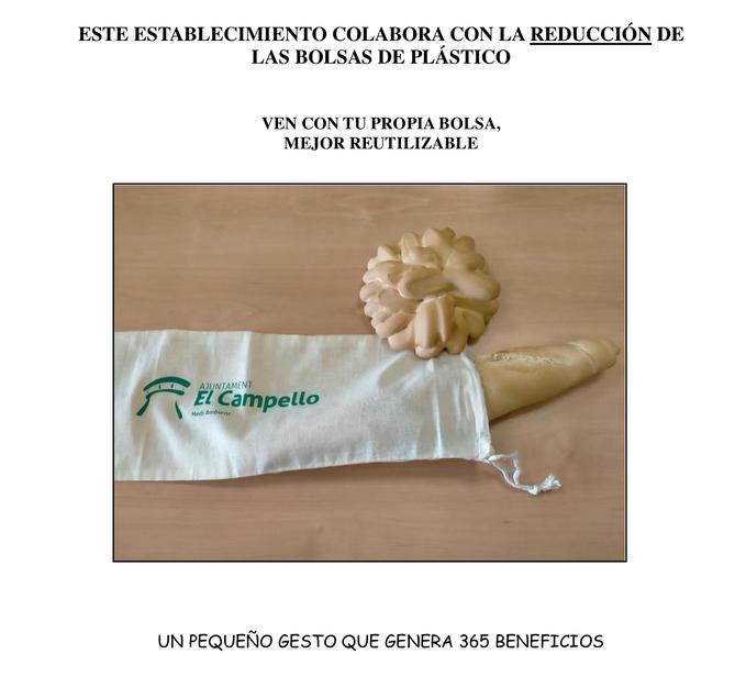 El Campello fomenta la eliminación de las bolsas de plástico de las panaderías