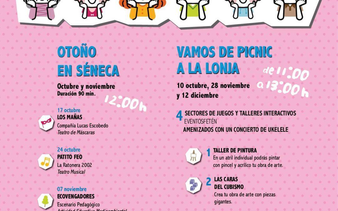Cultura propone funciones y eventos gratuitos para público infantil en La Lonja y Séneca