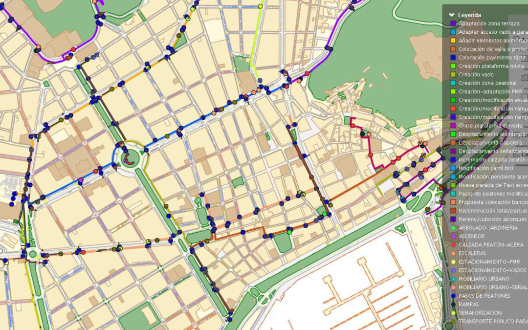 El Plan de Accesibilidad de itinerarios peatonales tendrá 45 rutas de 60 kilómetros