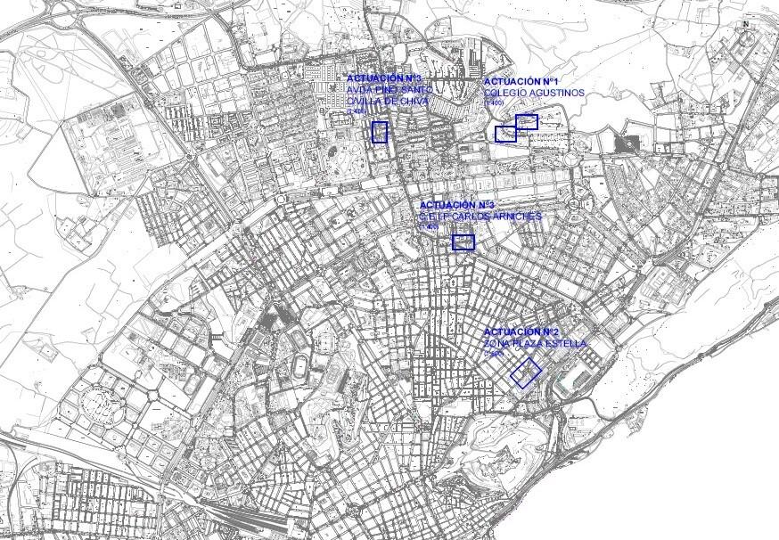 Las obras de mejora de la movilidad enEl Pla y Juan XXIII entran en su fase definitiva