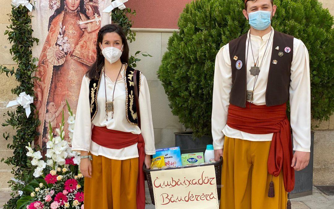 El Campello cambia su ofrenda floral por una donación de alimentos para Cáritas