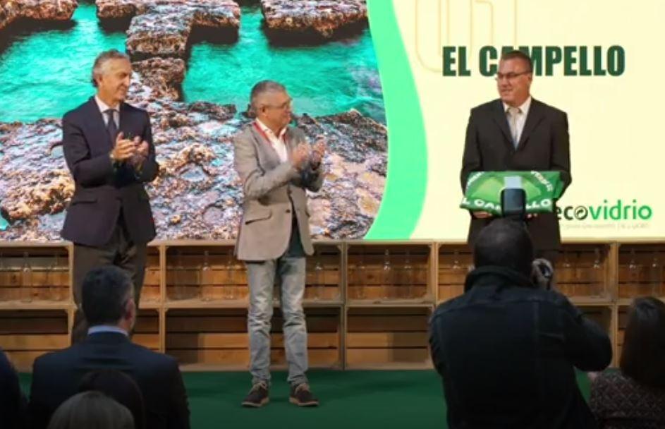 El Municipio de El Campello recoge en Madrid la Bandera Verde de Ecovidrio